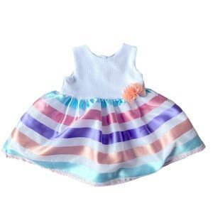 Summer dress striped with flower size 6-12m